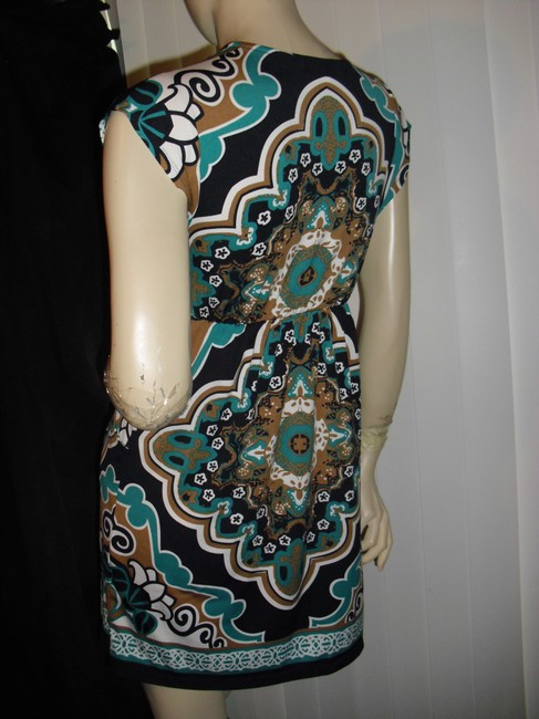 bailey blue short dress turquoise, brown, gold on Tradesy Image 2