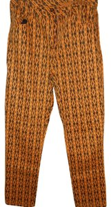 DG2 by Diane Gilman Straight Pants Orange and Black