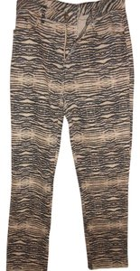 DG2 by Diane Gilman Straight Pants Biege and Black