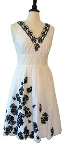 INC International Concepts short dress White Black on Tradesy