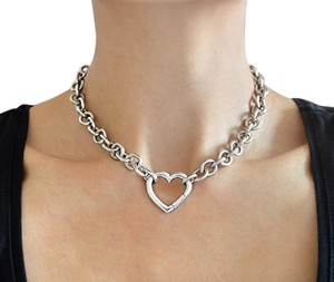 Tiffany & Co. TIFFANY & CO. 16 inches Heart Clasp Necklace Sterling Silver