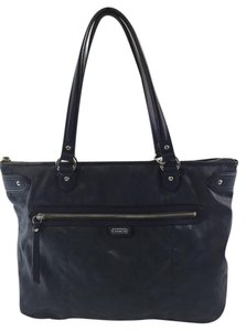 Coach Shimmer Daisy Blue Grey Large Tote in Slate