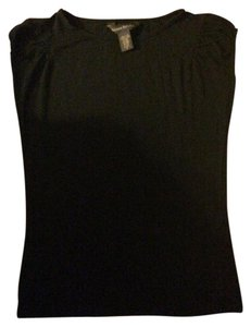 Banana Republic Cap Sleeve Casual T Shirt Black