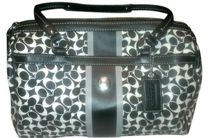 Coach Satchel in Black/White