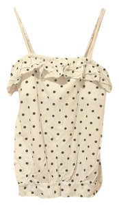Aéropostale Summer Polka Dot Top white
