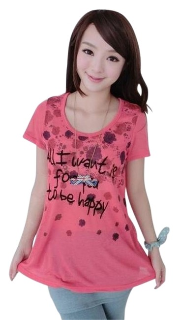 Preload https://img-static.tradesy.com/item/18778168/pink-59-seconds-short-sleeve-lettering-knit-tee-shirt-size-os-one-size-0-1-650-650.jpg