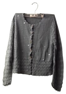Valerie Stevens Crochet All Cotton Sequins Cardigan