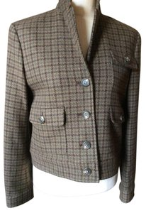 Lauren Ralph Lauren By Olive brown houndstooth Blazer
