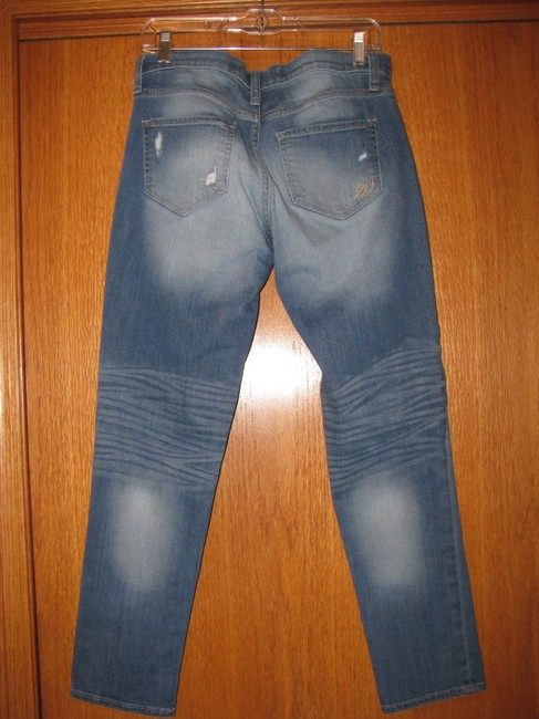 Express Relaxed Fit Jeans-Distressed Image 1