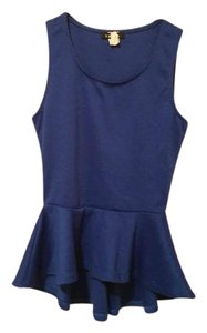 Mandee Casual Party Business Casual Top blue