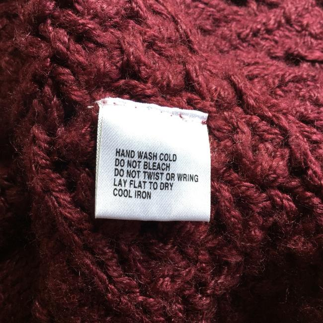 Love by Design Burgundy Cocoon Red Knit Button Cardigan Image 6