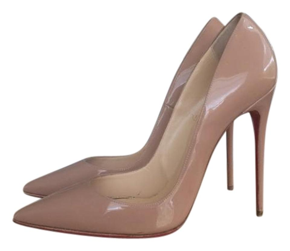 new product 26c55 ee582 Christian Louboutin Nude 39.5 So Kate Patent Red Sole Pumps Size US 9.5  Regular (M, B)