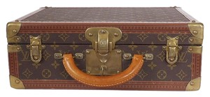 Louis Vuitton Travel Trunk Case Vintage Brown Travel Bag