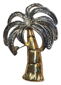 Other Palm Tree Gold And Silver Brooch and Pendant