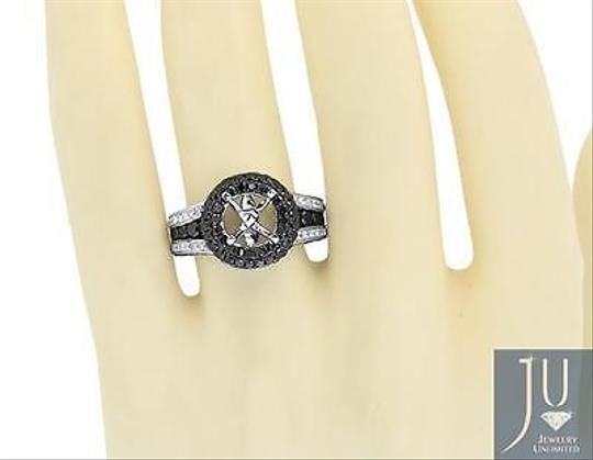 Other 14k White Gold Black Diamond Solitaire Semi Mount Engagement Fashion Ring 3.71ct