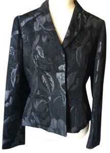 Nine West Jacket Size 8 Black Black silver Blazer