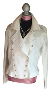 Ralph Lauren Gold Hardware White Womens Jean Jacket