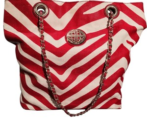 Kate Landry Tote in Red And White