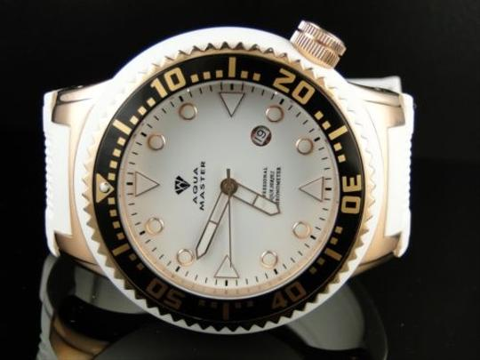 Other Aqua Master Joe Rodeo Swiss Mov Rose Finish White Rubber Band Watch