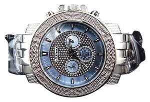 Mens Jojinojoe Rodeojojo Stainless Steel 51mm Real 25 Diamond Watch Mj-1209