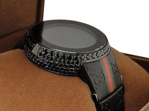 Gucci Ct Mens Custom Black Full I Gucci Digital Ya114207 Black Diamond Watch