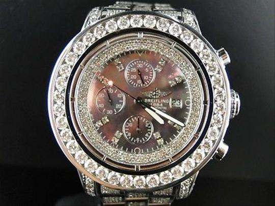 Breitling Mens Breitling Super Avenger 1 Row Big 53 Mm Diamond Watch Ct