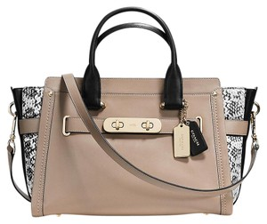 Coach Swagger Colorblock Satchel in stone