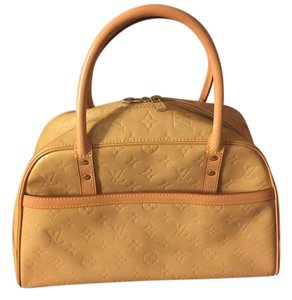 Louis Vuitton Tompkins Square Speedy Satchel in Yellow