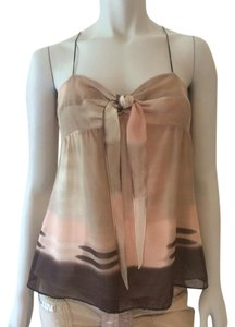 Theory Top Cream Brown Pink Taupe