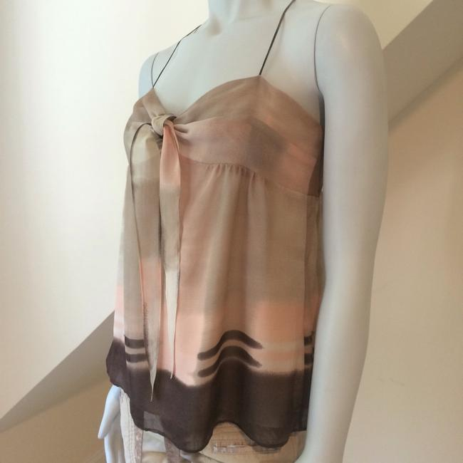 Theory Top Cream Brown Pink Taupe Image 1