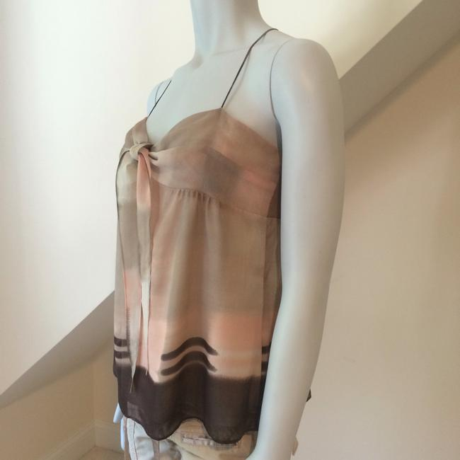 Theory Top Cream Brown Pink Taupe Image 2