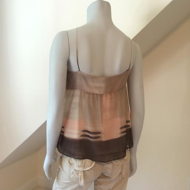 Theory Top Cream Brown Pink Taupe Image 5