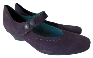 Arche Suede Elastic Purple Wedges