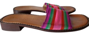 Stubbs & Wootton Cotton Slides Multi Color Multicolor Flats