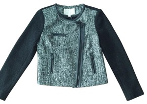 Banana Republic Sparkle Black And White Night Out Black/Gray Blazer