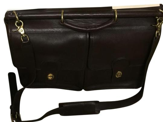 Coach dark brown to mahogany Messenger Bag