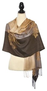 Other VISCOSE JACQUARD FLOWER PASHMINA SHAWL