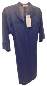 See by Chloé High Low Silk Cinch Waist 3/4 Shirt Dress