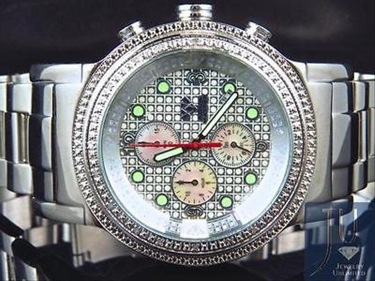 Other Mens Aqua Master Jojo Joe Rodeo Techno Genuine Band Diamond Watch 54mm .25ct