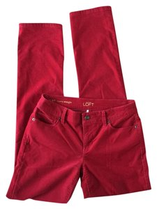 Ann Taylor LOFT Boot Cut Pants Red