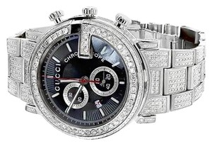90ee88fb2e0 Gucci Steel Finish with Diamond Ceramic White Pvd G 101 Ya101345 44 ...