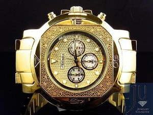 Mens Jojojojino Big Face Stainless Steel 55 Mm 0.25 Ct Diamond Watch Mj-1223
