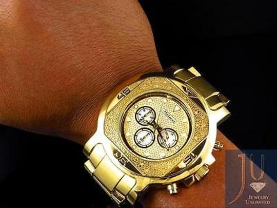 Other Mens Jojojojino Big Face Stainless Steel 55 Mm 0.25 Ct Diamond Watch Mj-1223 Image 2