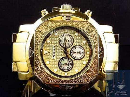 Other Mens Jojojojino Big Face Stainless Steel 55 Mm 0.25 Ct Diamond Watch Mj-1223 Image 5