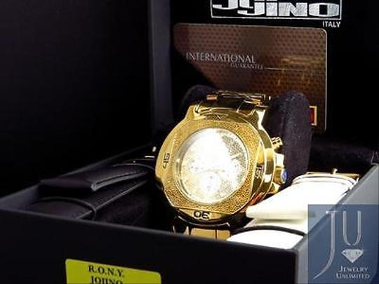 Other Mens Jojojojino Big Face Stainless Steel 55 Mm 0.25 Ct Diamond Watch Mj-1223 Image 6