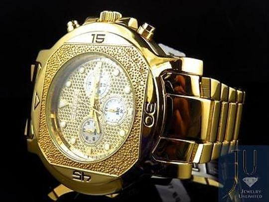 Other Mens Jojojojino Big Face Stainless Steel 55 Mm 0.25 Ct Diamond Watch Mj-1223