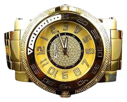 Other Mens Jojojojino Big Face Stainless Steel Mm 0.25 Ct Diamond Watch Mj-1227