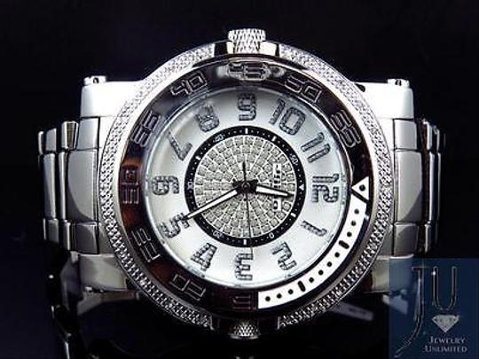 Other Mens Jojojojino Big Face Stainless Steel Mm 0.25 Ct Diamond Watch Mj-1228