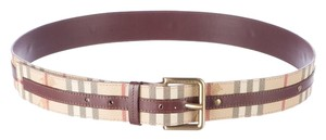 Burberry Tan Haymarket check Burberry waist belt L Large