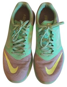 Nike Aqua with gray and lime green swoosh Athletic